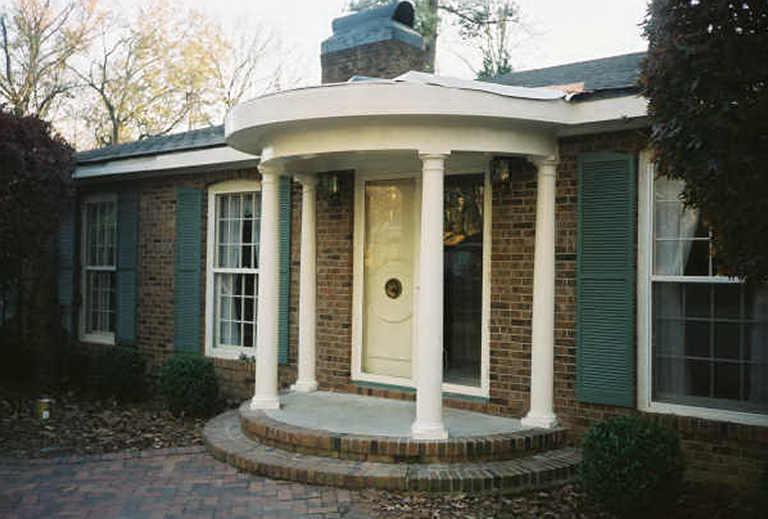 Portico designs in india for Indian house portico design